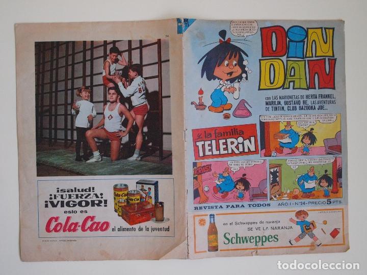 Tebeos: DIN DAN Nº 24 - AÑO I - REVISTA PARA TODOS - PRIMERA EPOCA - EDITORIAL BRUGUERA 1965 - TIN TIN - Foto 8 - 125402723