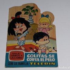 Tebeos: CUENTO TROQUELADO Nº 15 VAMOS A LA CAMA LA FAMILIA TELERIN - COLITAS SE CORTA EL PELO - ED. BRUGUERA. Lote 125722615