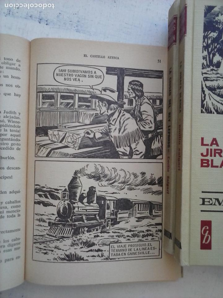 Tebeos: HISTORIAS SELECCIÓN BRUGUERA 37 LIBROS - Julio Verne - Emilio Salgari - Karl May, Carlos Dicken etc - Foto 104 - 126198063