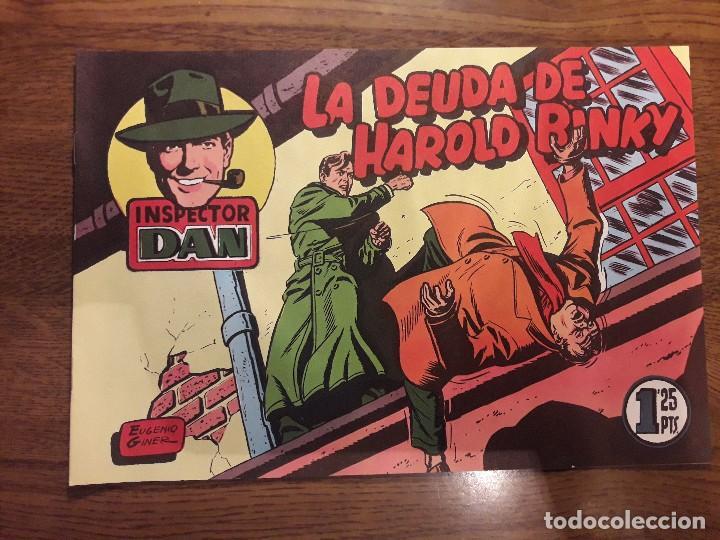Tebeos: INSPECTOR DAN. LOTE DE 12 TEBEOS. REEDICIÓN. BRUGUERA. - Foto 14 - 126491627