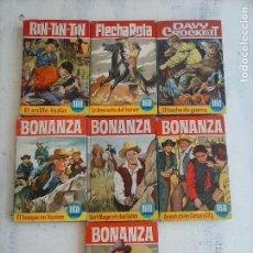 Tebeos: COLECCION HEROES - BONANZA,DAVY CROCKET, FLECHA ROTA, RINTINTIN RIN TIN TIN - 7 LIBROS BRUGUERA. Lote 126734651