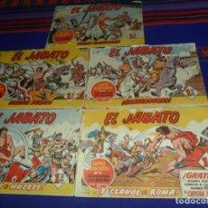Tebeos: GRAN PRECIO. EL JABATO ORIGINAL NºS 1, 2, 3, 4 Y 5. BRUGUERA 1,50 PTS. 1958. . Lote 126917047