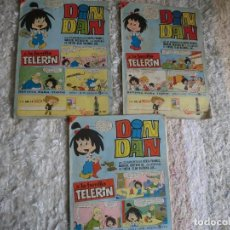 Tebeos: LOTE DE 3 DIN DAN,( CON FAMILIA TELERIN Y ANUNCIO DE LA CASERA),NUMEROS 8,9,10. Lote 126968823
