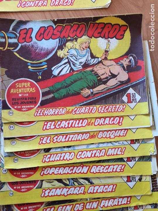 Tebeos: LOTE DE 25 CÓMIC - TEBEOS ANTIGUOS - EL COSACO VERDE - DEL NÚMERO 1 AL 25 - Foto 2 - 127088435