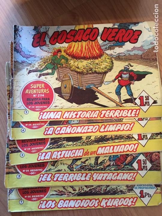 Tebeos: LOTE DE 25 CÓMIC - TEBEOS ANTIGUOS - EL COSACO VERDE - DEL NÚMERO 1 AL 25 - Foto 5 - 127088435