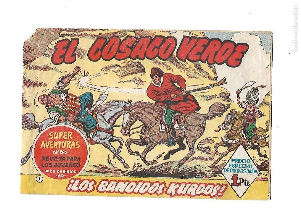 EL COSACO VERDE, Nº 1. ORIGINAL AÑO 1.960. DIBUJANTE J. COSTA. EDITORIAL BRUGUERA. (Tebeos y Comics - Bruguera - Cosaco Verde)