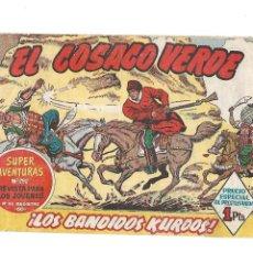 Tebeos: EL COSACO VERDE, Nº 1. ORIGINAL AÑO 1.960. DIBUJANTE J. COSTA. EDITORIAL BRUGUERA.. Lote 127202591