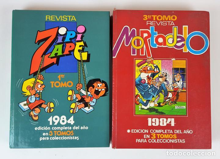 EDITORIAL BRUGUERA. 2 TOMOS. ZIPI ZAPE Y MORTADELO. ESPAÑA. 1984. (Tebeos y Comics - Bruguera - Otros)