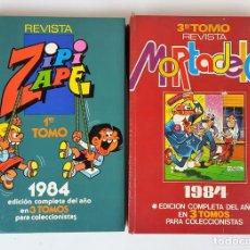 Tebeos: EDITORIAL BRUGUERA. 2 TOMOS. ZIPI ZAPE Y MORTADELO. ESPAÑA. 1984. . Lote 127417079