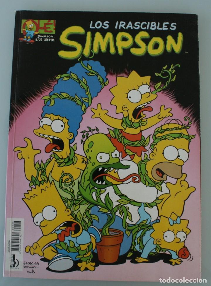 COMIC COLECCION OLE Nº 20: LOS IRASCIBLES SIMPSON. EDICIONES B 1996 LIBRO DE HISTORIETAS EN COLOR (Tebeos y Comics - Bruguera - Ole)