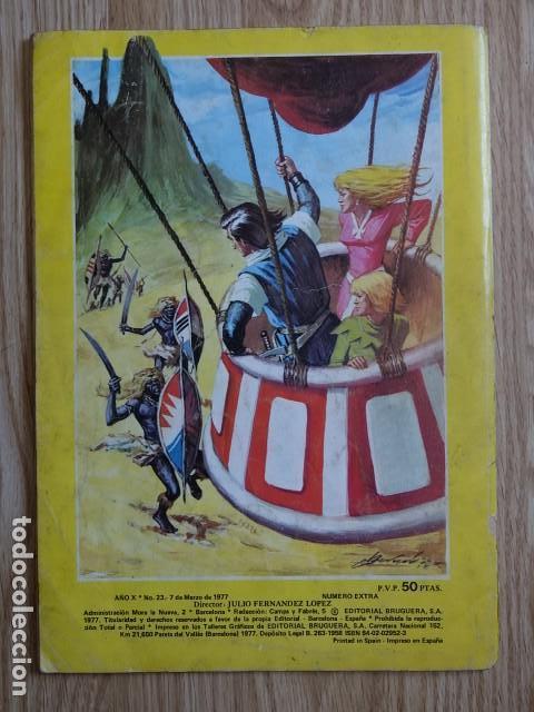 Tebeos: Trueno Color superaventuras Singular abordaje Nº 23 segunda época Año 1977 Extra Album gigante - Foto 2 - 127626295