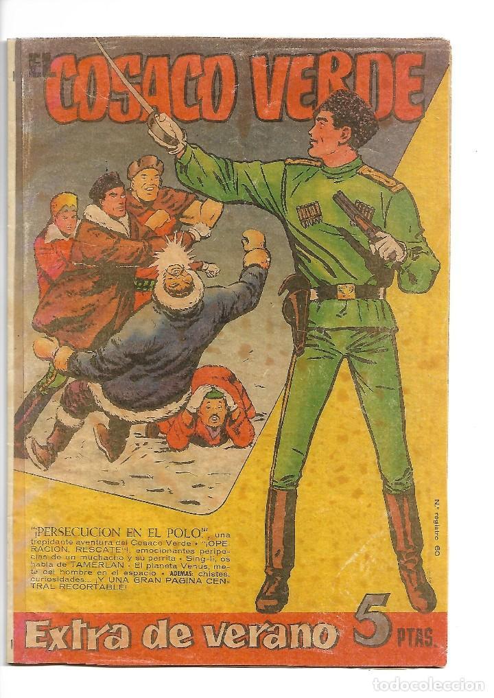 EL COSACO VERDE, EXTRA DE VERANO AÑO 1.960. ORIGINAL DIBUJANTE J. COSTA. EDITORIAL BRUGUERA. (Tebeos y Comics - Bruguera - Cosaco Verde)