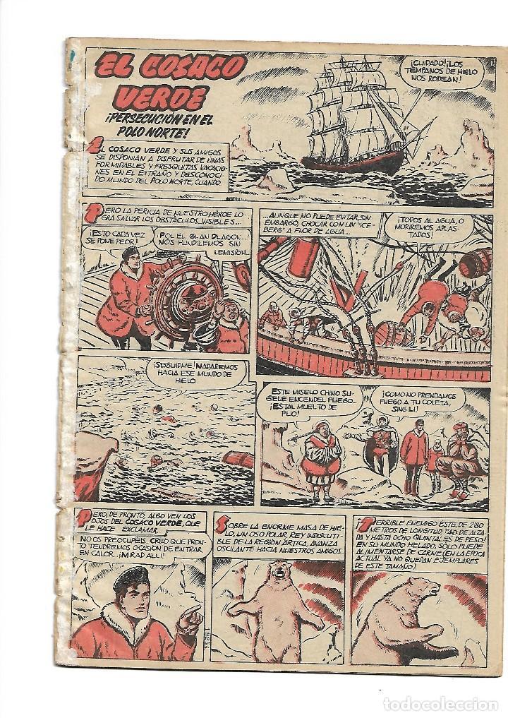 Tebeos: El Cosaco Verde, Extra de Verano Año 1.960. Original Dibujante J. Costa. Editorial Bruguera. - Foto 3 - 127667839