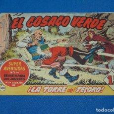 Tebeos: (M3) EL COSACO VERDE NUM 100 - EDT BRUGUERA , SEÑALES DE USO. Lote 127732031