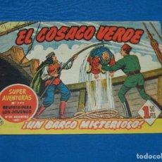 Tebeos: (M3) EL COSACO VERDE NUM 40 - EDT BRUGUERA , SEÑALES DE USO. Lote 127732079