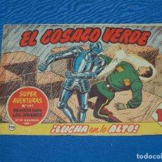 Tebeos: (M3) EL COSACO VERDE NUM 106 - EDT BRUGUERA , SEÑALES DE USO ( LOMO RESTAURADO ). Lote 127732115
