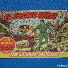 Tebeos: (M3) EL COSACO VERDE NUM 14 - EDT BRUGUERA , SEÑALES DE USO. Lote 127732135