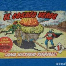 Tebeos: (M3) EL COSACO VERDE NUM 5 - EDT BRUGUERA , SEÑALES DE USO , CON ROTURAS. Lote 127732203