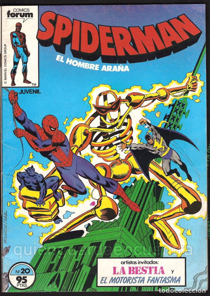 Tebeos: 20 Spider-Man Spiderman-Araña-20-21-23-26-29-30-31-32-34-37-38-40-47-50-53-55-56-65-69-70 Nuevo 1981 - Foto 9 - 54870084