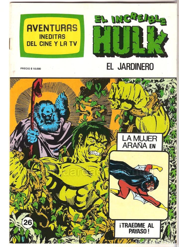 Tebeos: Spiderman-El Hombre y la Mujer Araña-Hulk-aventuras cine- tv 5 nuevos-11-12-24-25-26- años 80 - Foto 2 - 153884601
