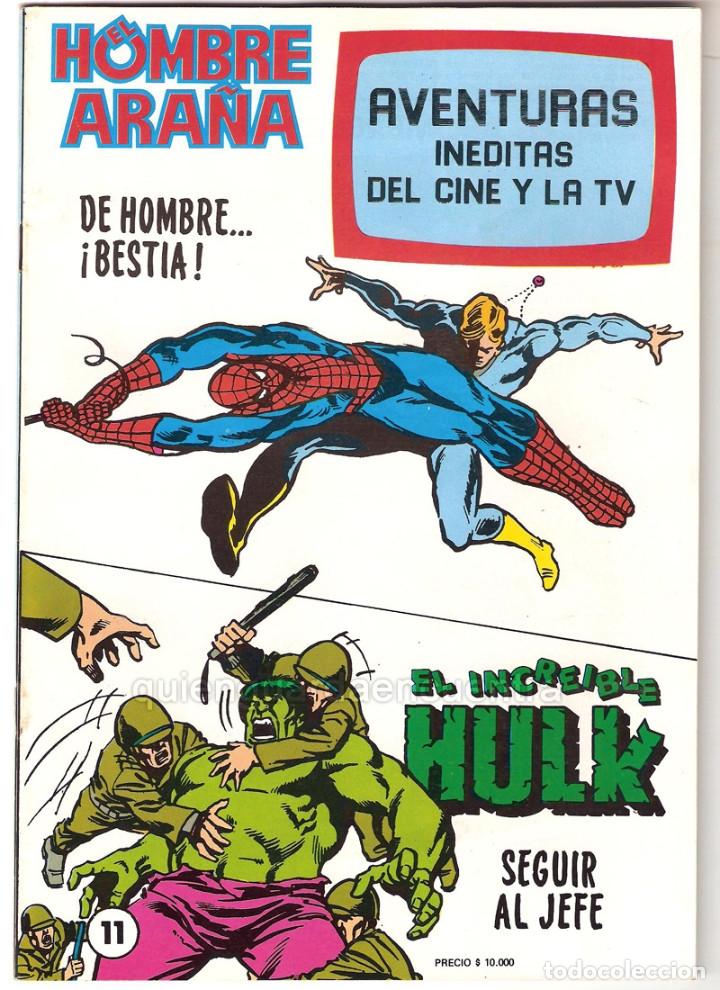Tebeos: Spiderman-El Hombre y la Mujer Araña-Hulk-aventuras cine- tv 5 nuevos-11-12-24-25-26- años 80 - Foto 3 - 153884601