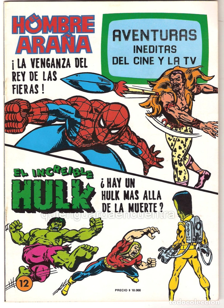 Tebeos: Spiderman-El Hombre y la Mujer Araña-Hulk-aventuras cine- tv 5 nuevos-11-12-24-25-26- años 80 - Foto 4 - 153884601