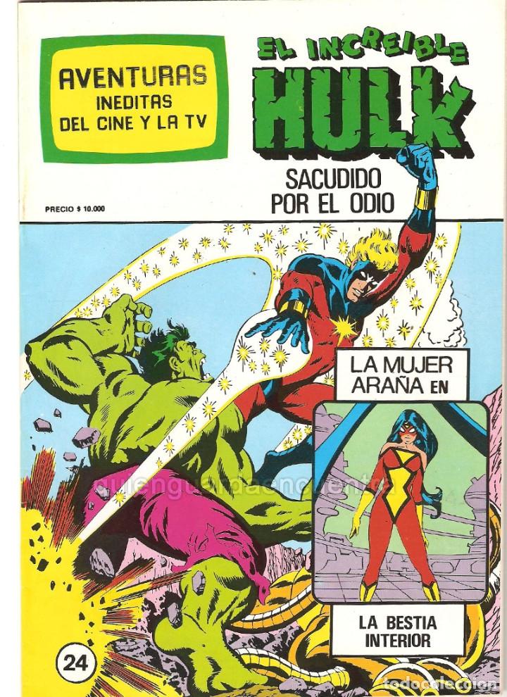 Tebeos: Spiderman-El Hombre y la Mujer Araña-Hulk-aventuras cine- tv 5 nuevos-11-12-24-25-26- años 80 - Foto 5 - 153884601