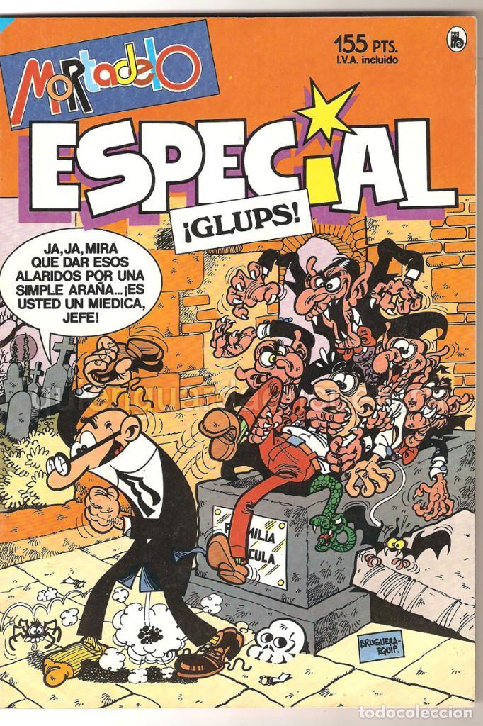 3 MORTADELO GLUPS 209 SUPERTIPOS 210 TROTAMUNDOS 211- AÑO XVI 1986 NUEVOS (Tebeos y Comics - Bruguera - Mortadelo)