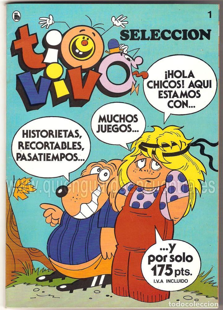 COMIC TIO VIVO SELECCIÓN Nº 1 BRUGUERA CUATRO PRIMEROS 1-2-3-4 AÑO LL 1985-86 (Tebeos y Comics - Bruguera - Tio Vivo)