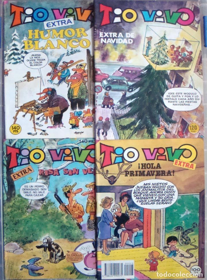 COMIC TIO VIVO EXTRA 4 COMICS HOLA PRIMAVERA 23-RISA SIN VEDA 82-HUMOR BLANCO 75-NAVIDAD NUEVOS (Tebeos y Comics - Bruguera - Tio Vivo)