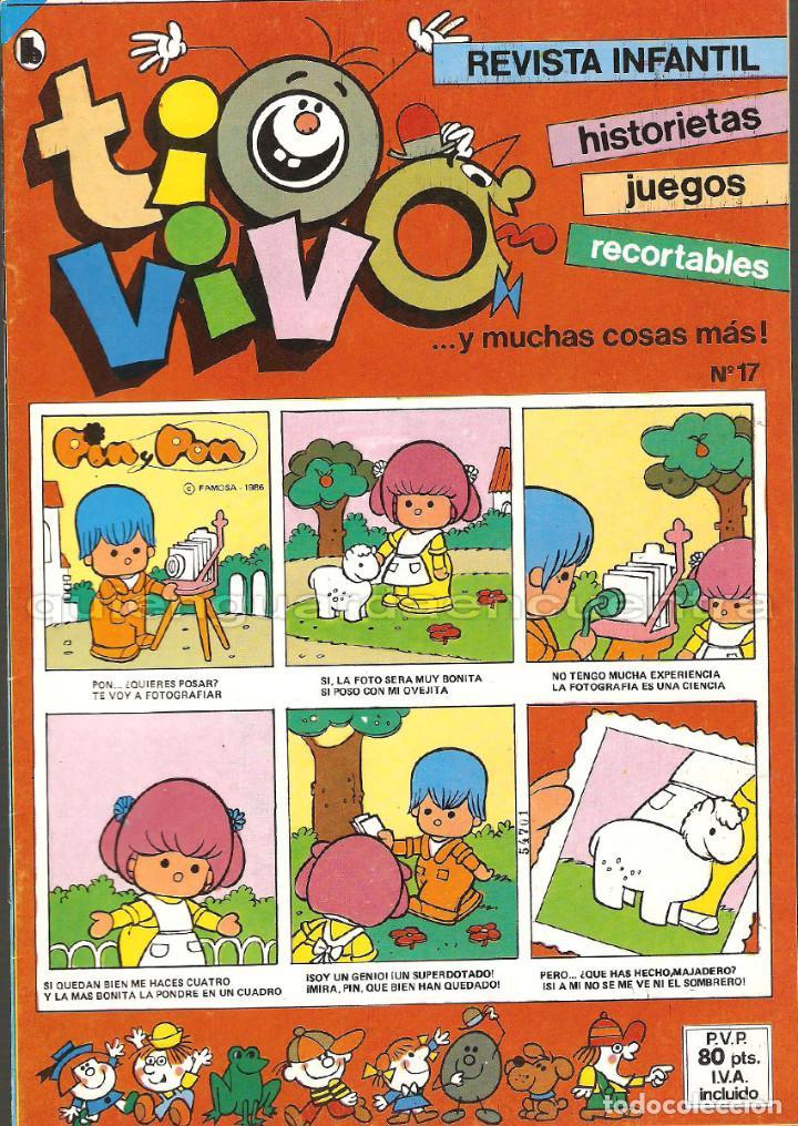 Tebeos: TIO VIVO 11 COMICS-HISTORIETAS-JUEGOS-RECORTABLES 14-15-16-17-18-19-20-21-22-23-24 AÑO II-1986 NUEV - Foto 2 - 127861111