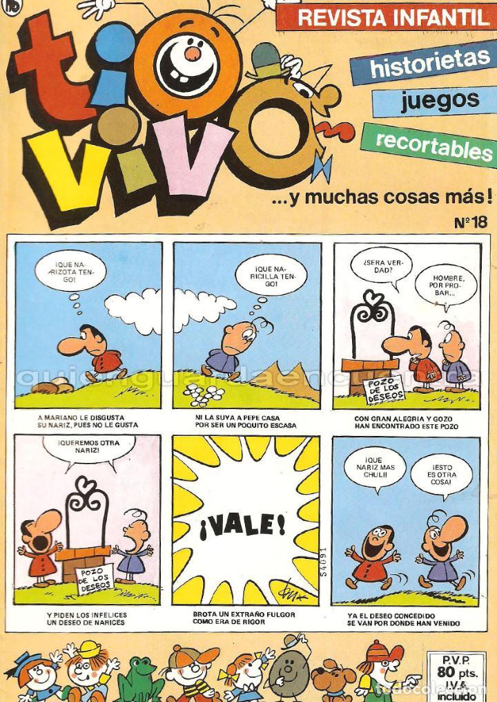 Tebeos: TIO VIVO 11 COMICS-HISTORIETAS-JUEGOS-RECORTABLES 14-15-16-17-18-19-20-21-22-23-24 AÑO II-1986 NUEV - Foto 3 - 127861111
