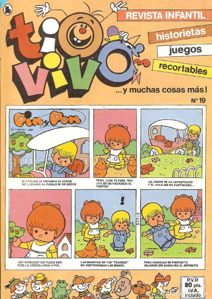 Tebeos: TIO VIVO 11 COMICS-HISTORIETAS-JUEGOS-RECORTABLES 14-15-16-17-18-19-20-21-22-23-24 AÑO II-1986 NUEV - Foto 4 - 127861111