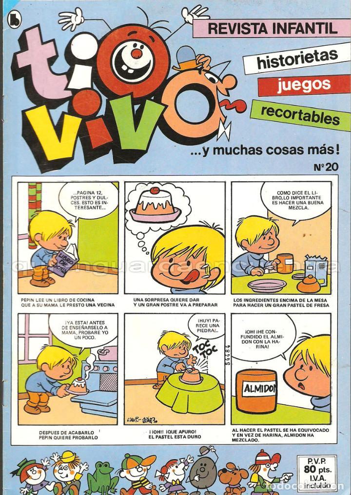 Tebeos: TIO VIVO 11 COMICS-HISTORIETAS-JUEGOS-RECORTABLES 14-15-16-17-18-19-20-21-22-23-24 AÑO II-1986 NUEV - Foto 5 - 127861111