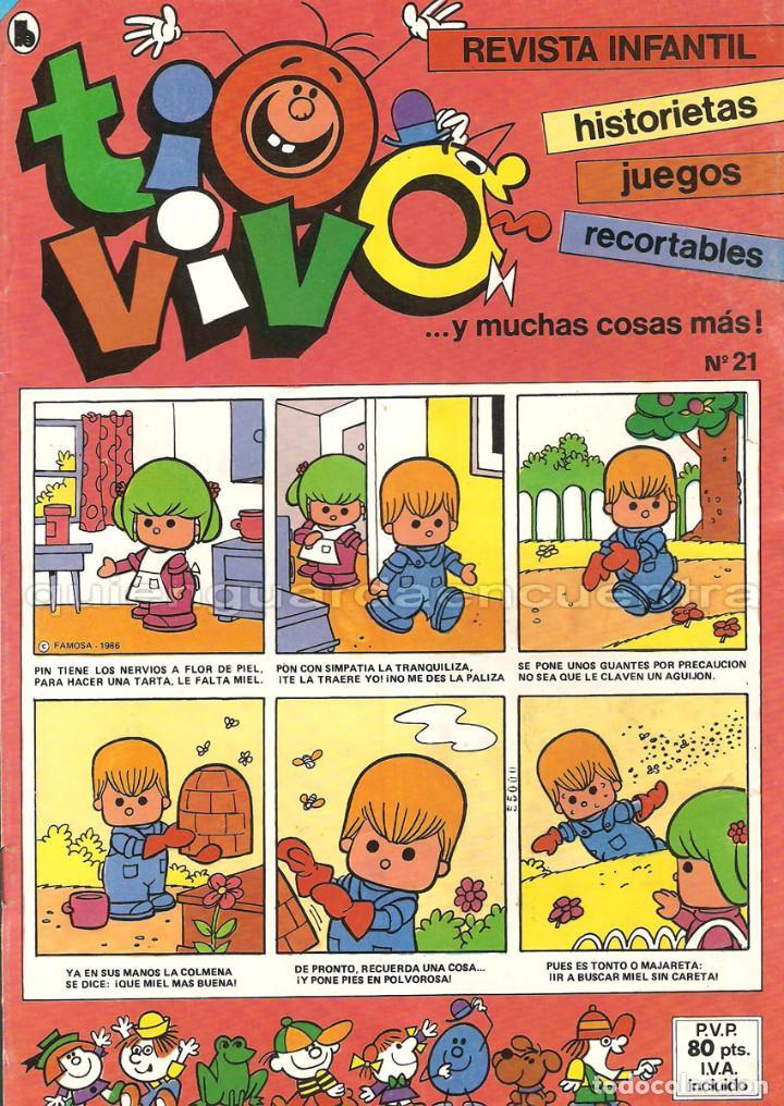 Tebeos: TIO VIVO 11 COMICS-HISTORIETAS-JUEGOS-RECORTABLES 14-15-16-17-18-19-20-21-22-23-24 AÑO II-1986 NUEV - Foto 6 - 127861111