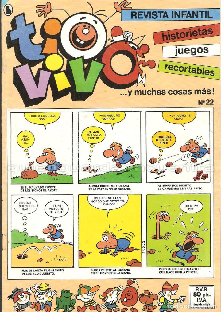 Tebeos: TIO VIVO 11 COMICS-HISTORIETAS-JUEGOS-RECORTABLES 14-15-16-17-18-19-20-21-22-23-24 AÑO II-1986 NUEV - Foto 7 - 127861111