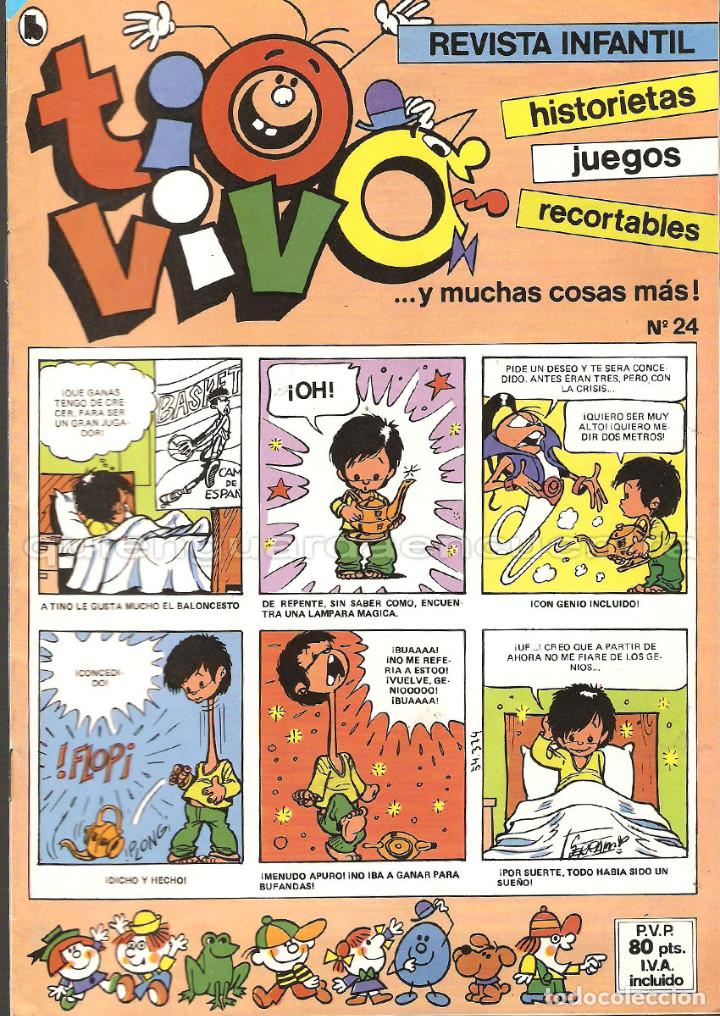 Tebeos: TIO VIVO 11 COMICS-HISTORIETAS-JUEGOS-RECORTABLES 14-15-16-17-18-19-20-21-22-23-24 AÑO II-1986 NUEV - Foto 9 - 127861111
