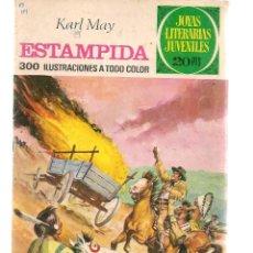 Tebeos: JOYAS LITERARIAS JUVENILES. Nº 144. ESTAMPIDA. KARL MAY. 1ª EDC. 1975.(ST/B101). Lote 127931711