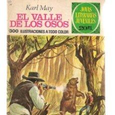 Tebeos: JOYAS LITERARIAS JUVENILES. Nº 141. EL VALLE DE LOS OSOS. KARL MAY. 1ª EDC. 1975.(ST/B101). Lote 127931855