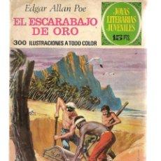 Tebeos: JOYAS LITERARIAS JUVENILES. Nº 88. EL ESCARABAJO DE ORO. EDGAR ALLAN POE. 1ª EDC. 1973. (ST/B101). Lote 127933071