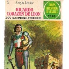 Tebeos: JOYAS LITERARIAS JUVENILES. Nº 19. RICARDO CORAZÓN DE LEÓN. 3ª EDC. 1975. (ST/B101). Lote 127933243