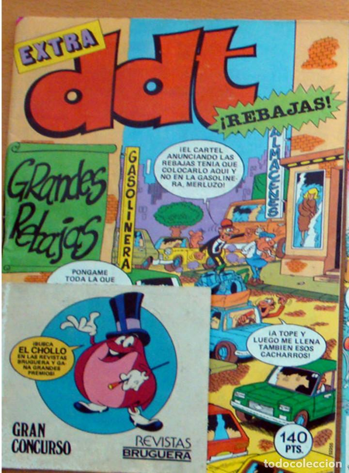 DDT EXTRA GRANDES REBAJAS-Nº 76-BRUGUERA-1985 CROMOS ADHESIVOS AÑO XXXIV NUEVO (Tebeos y Comics - Bruguera - DDT)