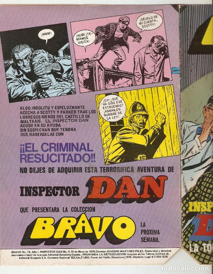 Tebeos: BRAVO Nº 10 - INSPECTOR DAN Nº 5 - EDITORIAL BRUGUERA - 1976 - 16 pp - - Foto 2 - 128021363