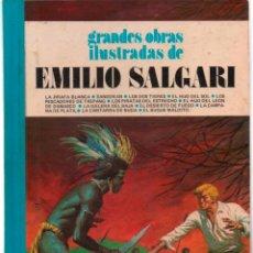 Tebeos: GRANDES OBRAS ILUSTRADAS DE EMILIO SALGARI. TOMO 7 1ª EDICION BRUGUERA LOMO TELA 1980. Lote 128157439