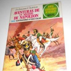 Tebeos: JOYAS LITERARIAS JUVENILES Nº15 AVENTURAS DE UN SOLDADO DE NAPOLEON EDITORIAL BRUGUERA 1971. Lote 128237643