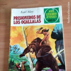 Tebeos: JOYAS LITERARIAS JUVENILES, PRISIONEROS DE LOS OGALLALAS, KARL MAY. Lote 128252079