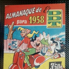 Tebeos: DDT ALMANAQUE PARA 1958 ORIGINAL EDT. BRUGUERA (M 3). Lote 128276219