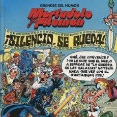 Tebeos: MORTADELO Y FILEMON - SILENCIO SE RUEDA - GRANDES DEL HUMOR 18 - EL PERIODICO. Lote 128380063