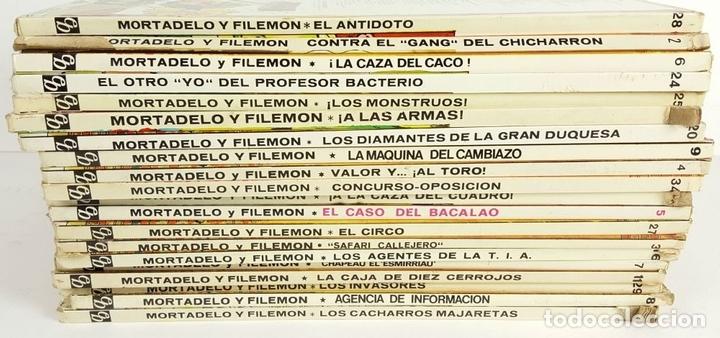 Tebeos: COLECCIÓN DE 20 TEBEOS DE MORTADELO Y FILEMON. EDIT. BRUGUERA. F. IBAÑEZ. - Foto 4 - 128452503
