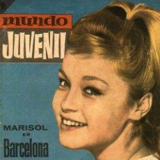 Tebeos: MUNDO JUVENIL-39: MARISOL EN BARCELONA (BRUGUERA, 1963) REVISTA DE LOS AMIGOS DE MARISOL. Lote 128530363